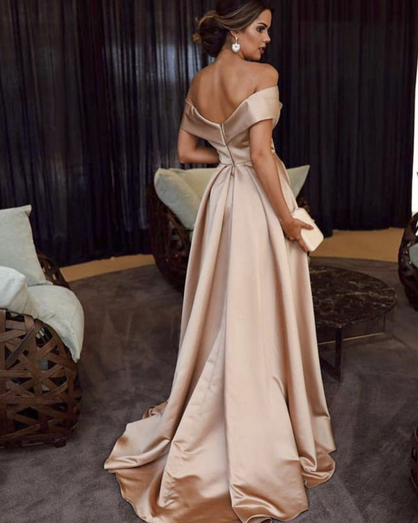 Sexy-Long-Satin-Bridesmaid-Dresses-Pink-Formal-Gowns
