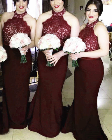 Image of Bridesmaid-Dresses-Burgundy