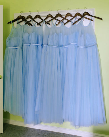 Image of Lavender-Bridesmaid-Dresses-Floor-Length-Tulle-Party-Dress-For-Weddings