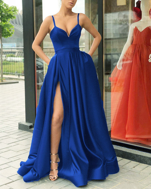 5896 Evening Gown Long Royal Blue Formal Dress