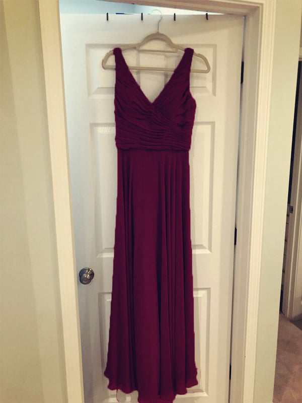 Burgundy-Bridesmaid-Gowns
