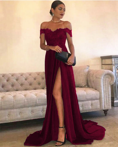 Image of Burgundy Prom Dresses 2021