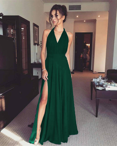 Emerald Green Chiffon Bridesmaid Dresses