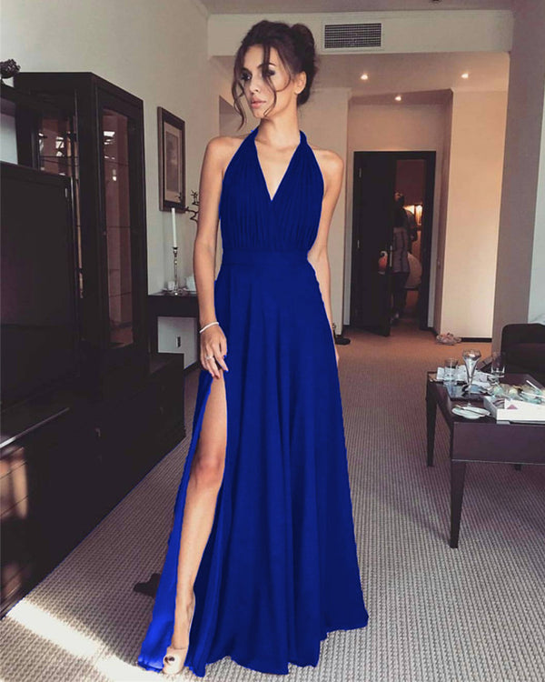 Royal Blue Bridesmaid Dresses Chiffon