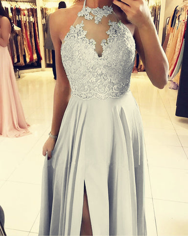 Silver Bridesmaid Dresses Long