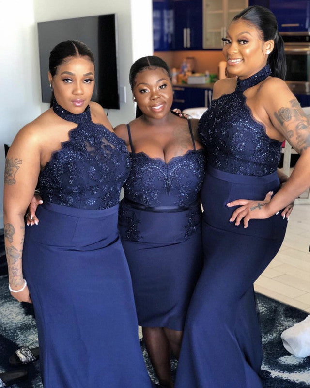 Satin Mismatch Bridesmaid Dresses Plus Size