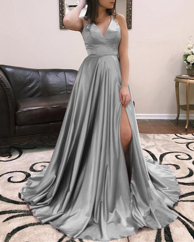 Image of Long-Silver-Prom-Dresses-2019-Affordable-Evening-Gowns