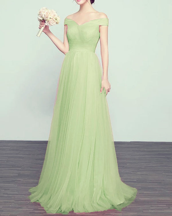 Tulle Bridesmaid Dresses Sage Green