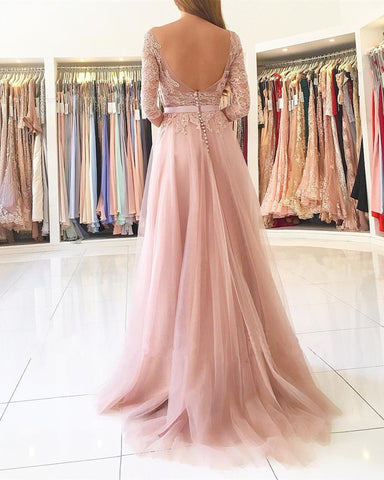 Image of Sexy Open Back Bridesmaid Dresses