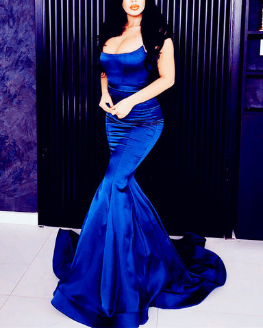 Image of Royal-Blue-Prom-Gowns-Backless-Mermaid-Evening-Dresses-2019