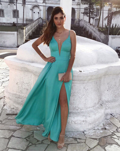 Image of turquoise-blue-prom-dresses