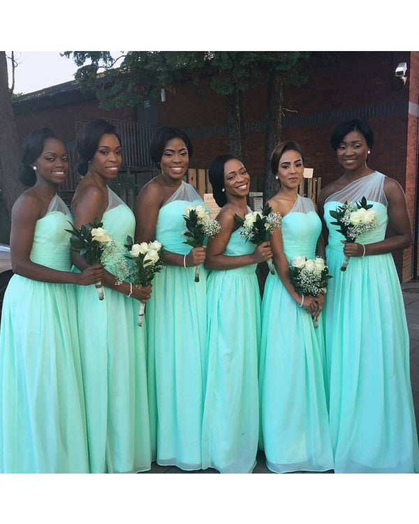 Chiffon Bridesmaid Dresses One Shoulder
