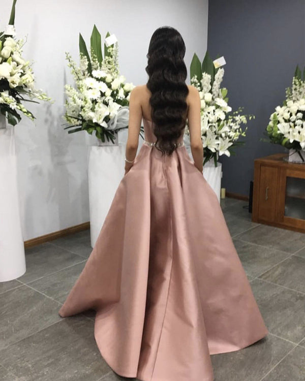 Dusty Pink Prom Dresses Long
