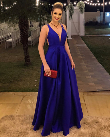 8859 Evening Dresses Royal Blue