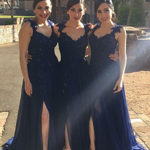 Image of Navy-Blue-Bridesmaid-Dresses