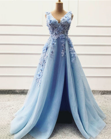 Image of Baby Blue Prom Dresses 2020