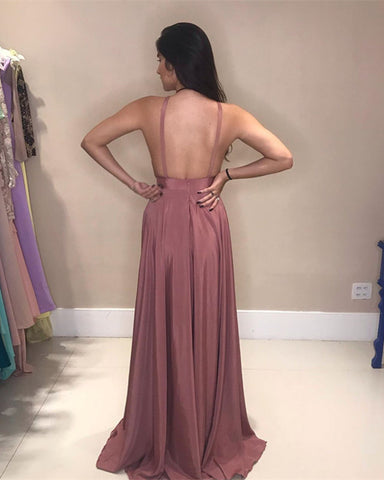 Backless Bridesmaid Dresses Chiffon