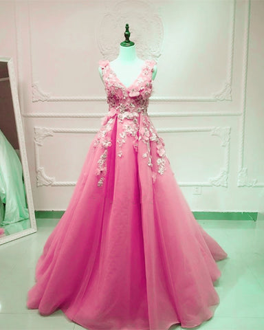 Image of Blush Pink Prom Long Dresses