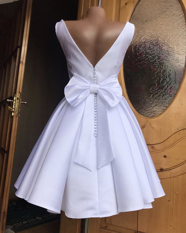 Image of Bow Back Homecoming Dresses Cute