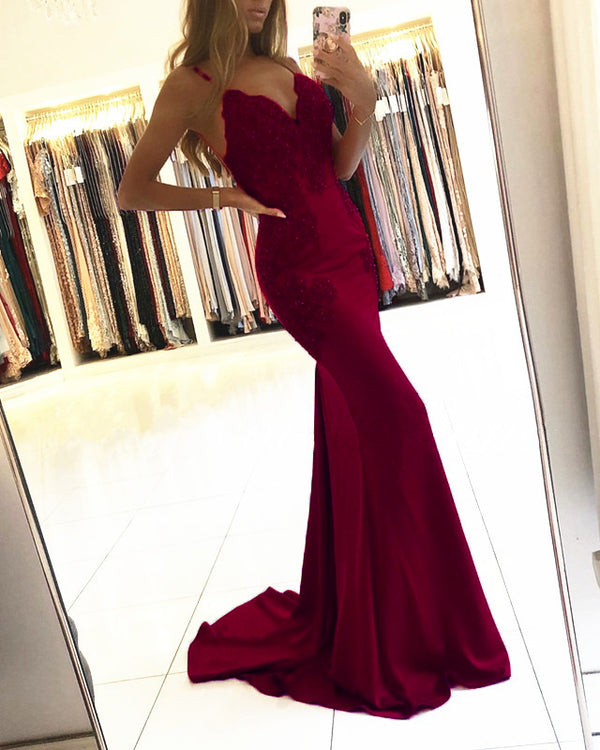 Burgundy Mermaid Dresses