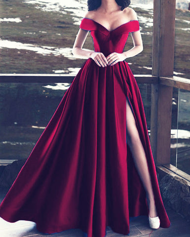 Image of alinanova Burgundy Prom Dresses 7016