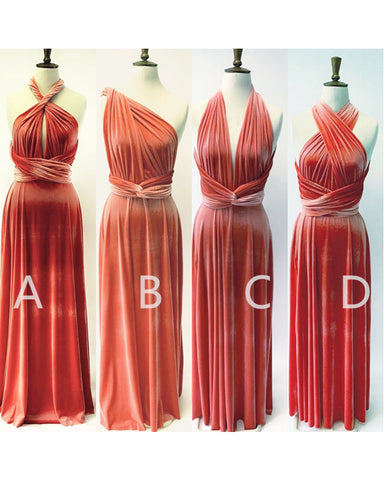 Image of Convertible Velvet Bridesmaid Dresses