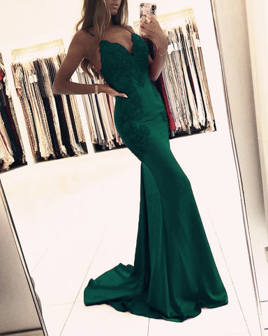 Image of Emerald Green Mermaid Dresses