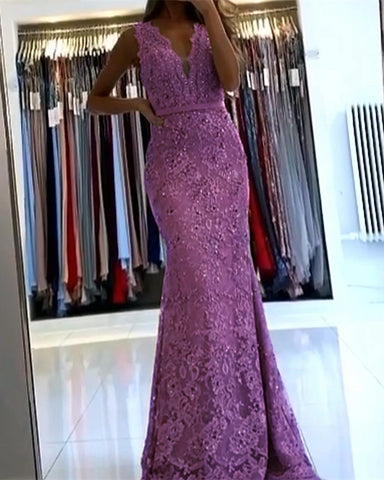 Image of Lilac Mermaid Evening Dresses