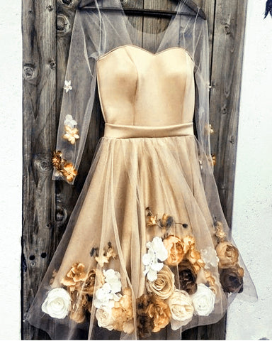 Image of Champagne Homecoming Dresses 2020