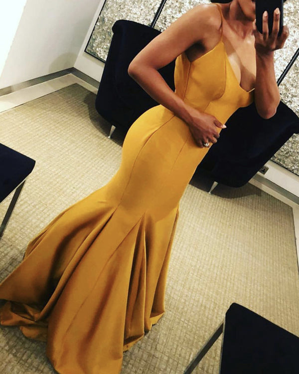 Gold Mermaid Formal Dress