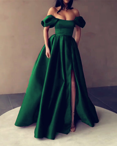 Emerald Green Prom Dresses Off The Shoulder