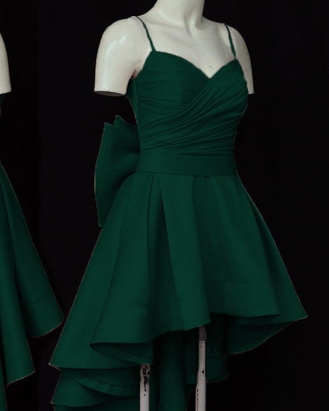 Bow Prom Dress High Low