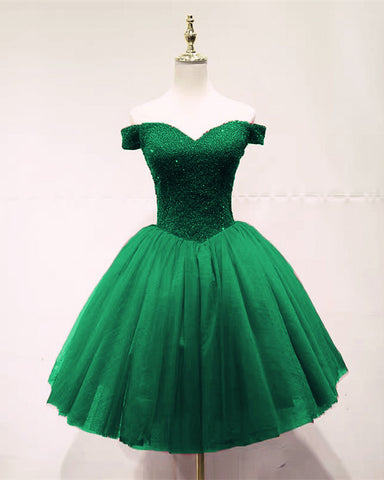 Image of Dark Green Homecoming Dresses