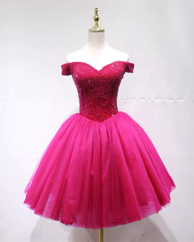 Image of Rose Pink Homecoming Dresses 2020