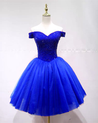 Image of Royal Blue Homecoming Dresses 2020
