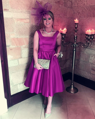 Image of Purple-Homecoming-Party-Dresses-For-Birthday