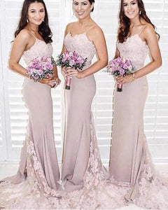 Elegant-Bridesmaid-Dresses-With-Straps