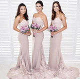 Lilac-Bridesmaid-Dresses-Mermaid-Long-Evening-Gowns