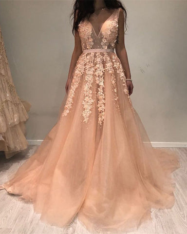 Image of Prom-Dresses-Peach