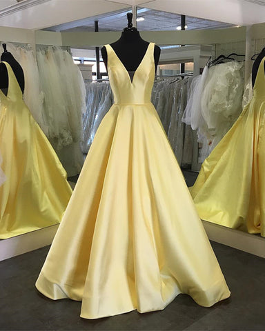 Image of Yellow-Prom-Dresses