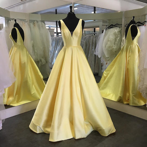 Image of Yellow-Evening-Dresses