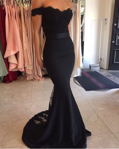 Image of Black-Bridesmaid-Dresses
