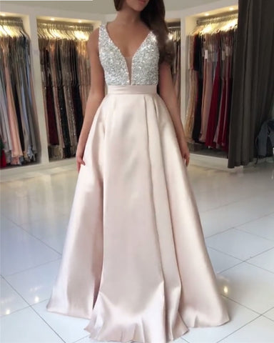 Image of Prom-Dresses-Pale-Pink