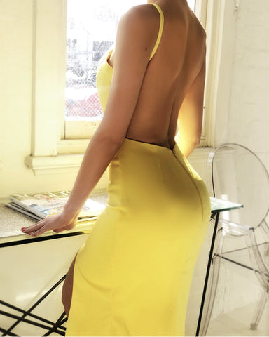 Image of Sexy-Opnwn-Back-Evening-Gowns-Mermaid-Split-Prom-Dresses