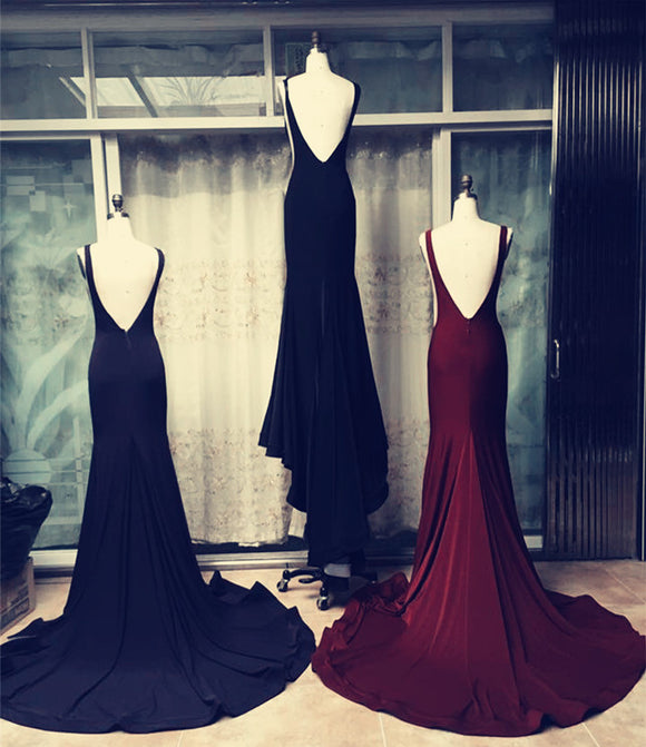 Long-Jersey-Bridesmaid-Dresses-Mermaid-Backless-Gowns