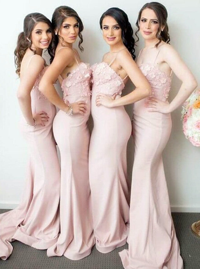 17e663c0646e Double tap to zoom · Elegant Lace Flowers Sweetheart Long Mermaid  Bridesmaid Dresses