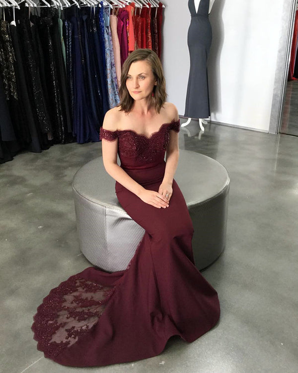 Long-Burgundy-Dresses