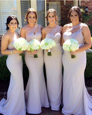 Image of Bridesmaid-Dresses-One-Shoulder