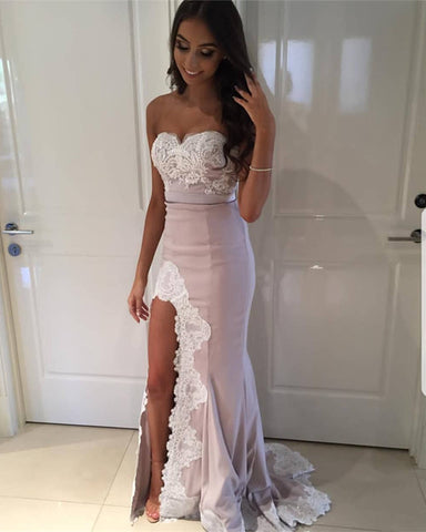 Image of Sleeveless-Bridesmaid-Dresses-Mermaid-Sweetheart-Formal-Evening-Gowns
