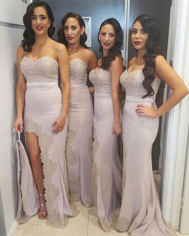 Image of Sexy-Long-Formal-Bridesmaid-Dresses-For Maid-Of-Honor